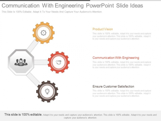 Communication With Engineering Powerpoint Slide Ideas