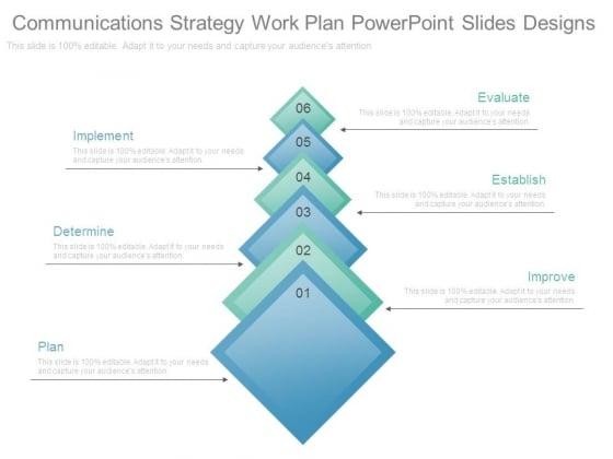 Communications Strategy Work Plan Powerpoint Slides Designs