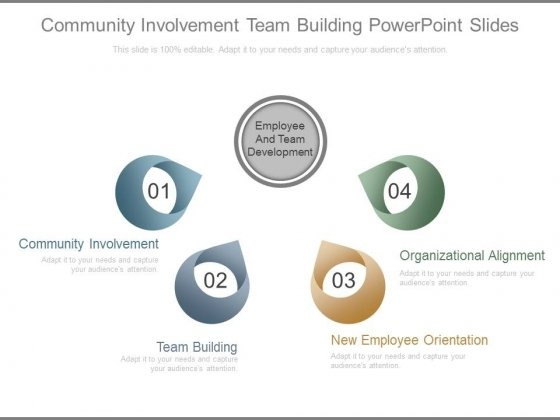 Community Involvement Team Building Powerpoint Slides