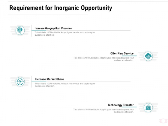Company Amalgamation Requirement For Inorganic Opportunity Ppt Model Guide PDF