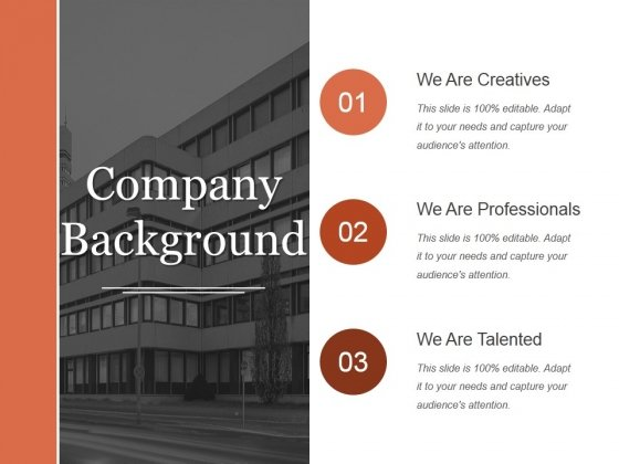Company Background Ppt PowerPoint Presentation Pictures File Formats