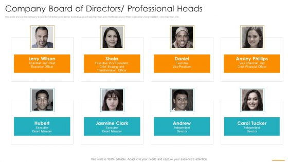 Company_Board_Of_Directors_Professional_Heads_Ppt_Infographics_Show_PDF_Slide_1