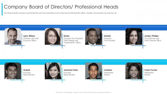 Company_Board_Of_Directors_Professional_Heads_Ppt_Layouts_Ideas_PDF_Slide_1