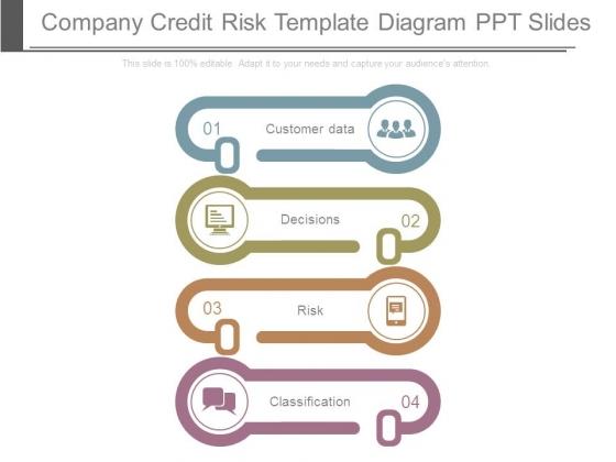 Company Credit Risk Template Diagram Ppt Slides