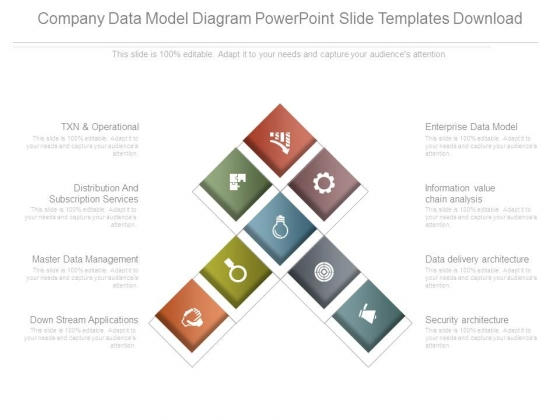 Company Data Model Diagram Powerpoint Slide Templates Download