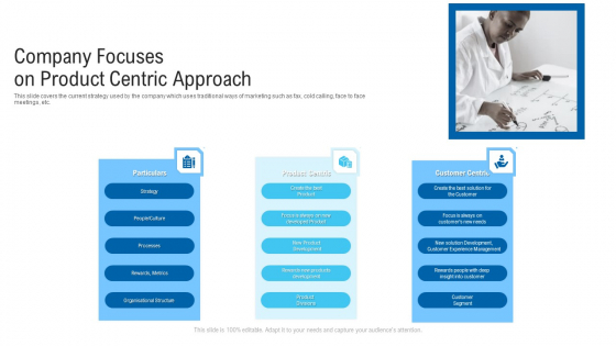Company Focuses On Product Centric Approach Ppt Show Design Ideas PDF