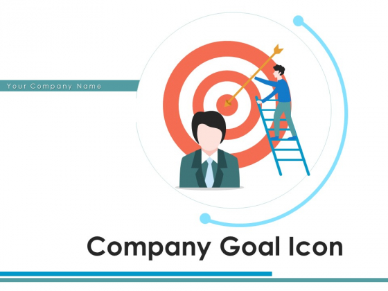 Company Goal Icon Objective Arrow Ppt PowerPoint Presentation Complete Deck