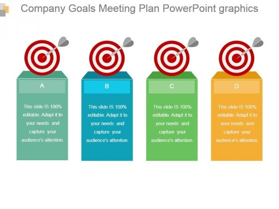 Company Goals Meeting Plan Powerpoint Graphics