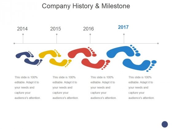 Company History And Milestone Template  Ppt Powerpoint Presentation