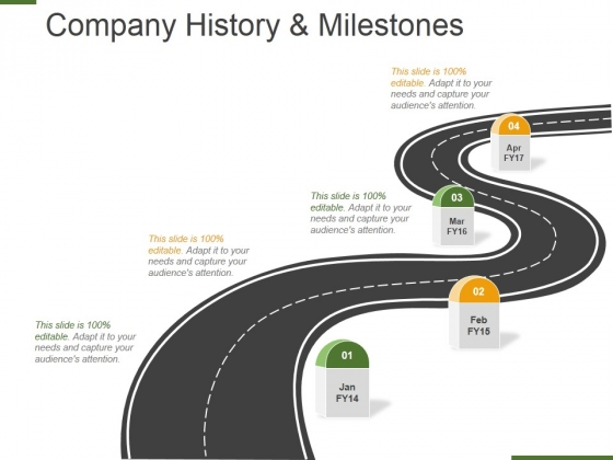 Company History And Milestones Template 1 Ppt PowerPoint Presentation Portfolio Slide