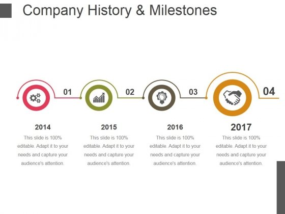 Company History And Milestones Template  Ppt Powerpoint