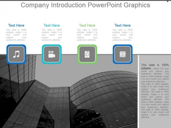 Company Introduction Powerpoint Graphics
