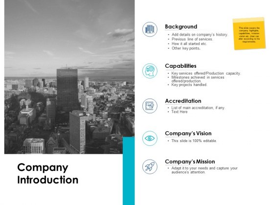 Company Introduction Vision Ppt PowerPoint Presentation Inspiration Icons