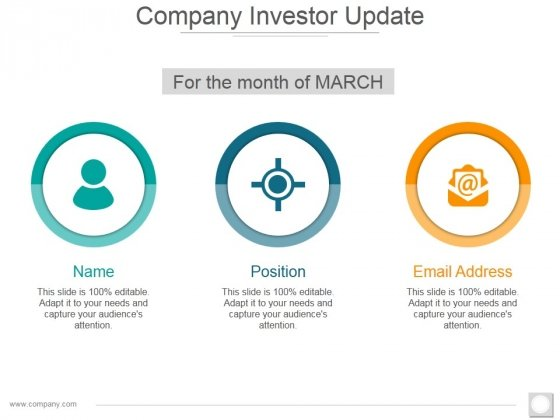 Company Investor Update Ppt PowerPoint Presentation Gallery Graphics Design
