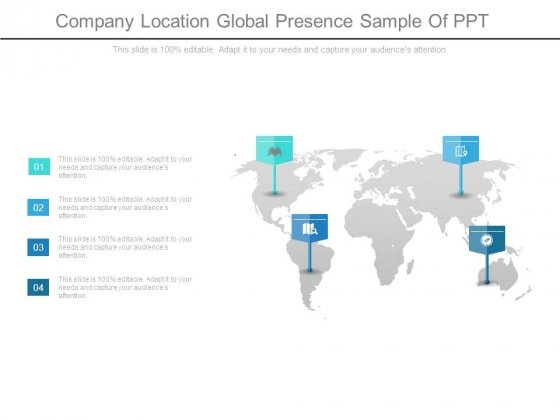 Company Location Global Presence Sample Of Ppt