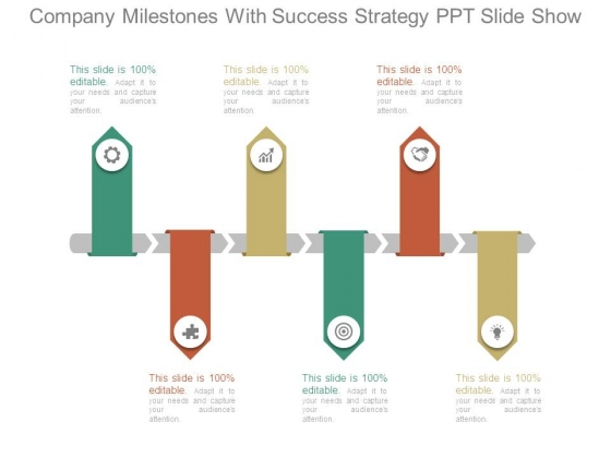 Company Milestones With Success Strategy Ppt Slide Show