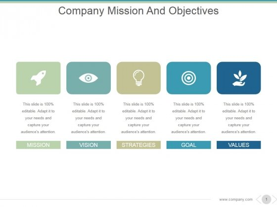 Company Mission And Objectives Ppt PowerPoint Presentation Information