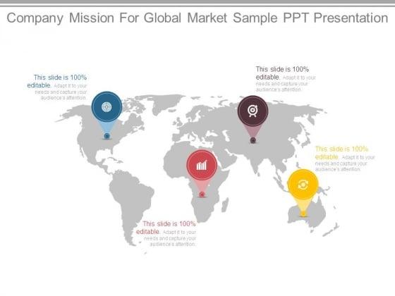 Company Mission For Global Market Sample Ppt Presentation