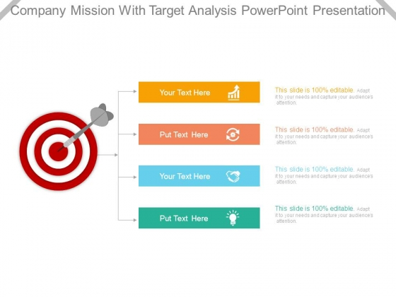Company Mission With Target Analysis Powerpoint Presentation