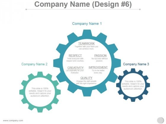 Company Name Design 6 Ppt PowerPoint Presentation Sample