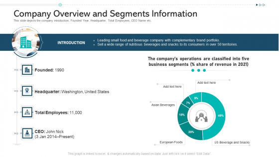 Company Overview And Segments Information Ppt Pictures Design Inspiration PDF
