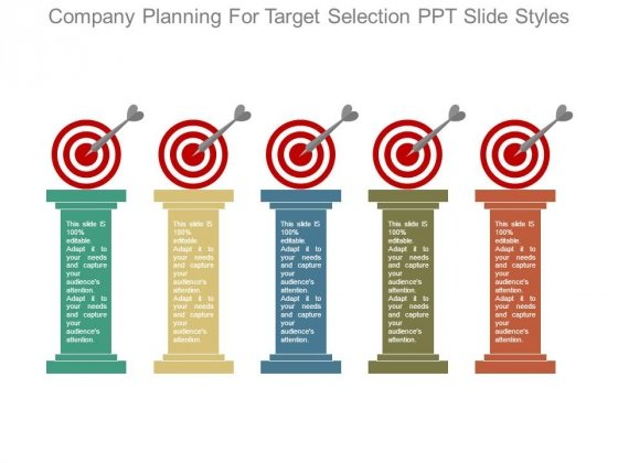 Company Planning For Target Selection Ppt Slide Styles