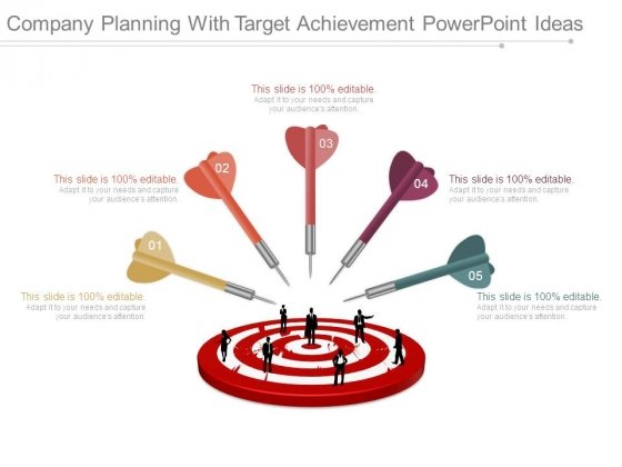 Company Planning With Target Achievement Powerpoint Ideas