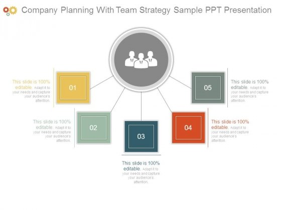 Company Planning With Team Strategy Sample Ppt Presentation