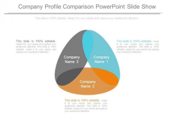 Company Profile Comparison Powerpoint Slide Show