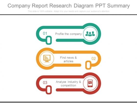 Company Report Research Diagram Ppt Summary