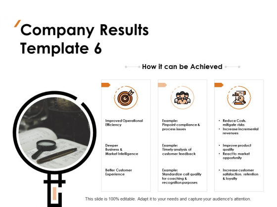 Company Results Efficiency Ppt PowerPoint Presentation Icon Picture