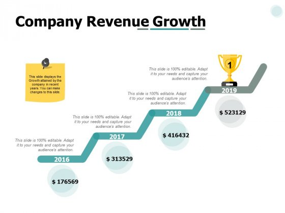 Company Revenue Growth Ppt PowerPoint Presentation Gallery Vector