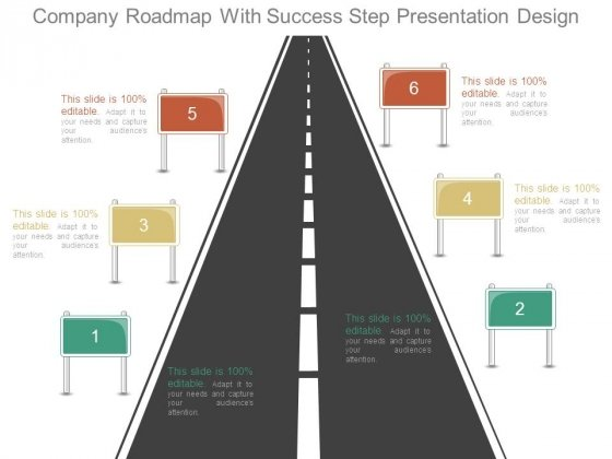 Company Roadmap With Success Step Presentation Design