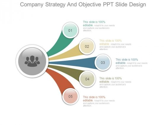 Company Strategy And Objective Ppt Slide Design