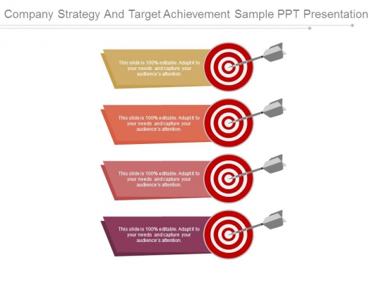 Company Strategy And Target Achievement Sample Ppt Presentation