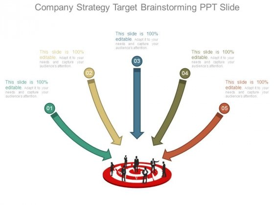 Company Strategy Target Brainstorming Ppt Slide