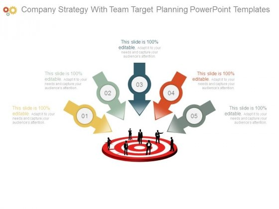 Company Strategy With Team Target Planning Powerpoint Templates