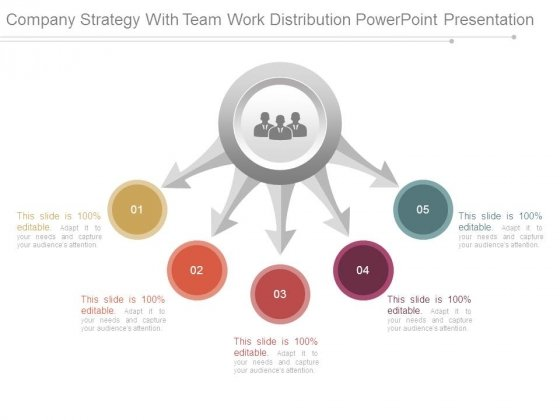 Company Strategy With Team Work Distribution Powerpoint Presentation