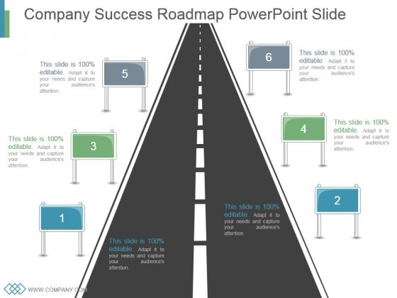Company Success Roadmap Powerpoint Slide