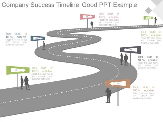 Company Success Timeline Good Ppt Example