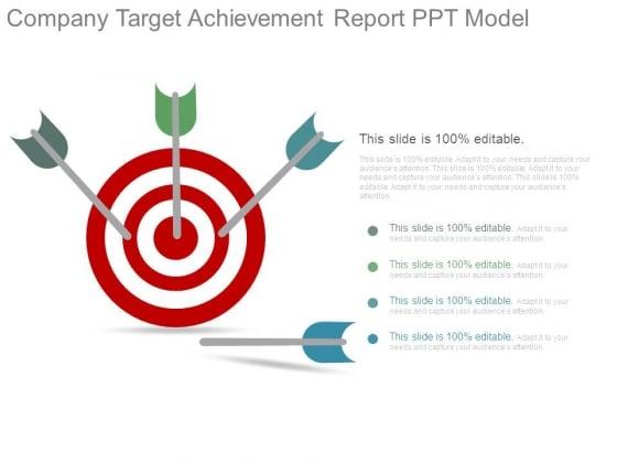 Company Target Achievement Report Ppt Model