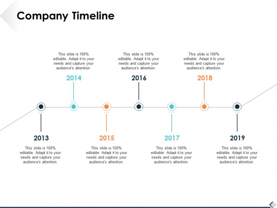 Company Timeline Ppt PowerPoint Presentation Show Slide