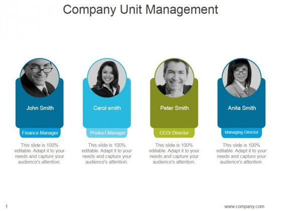 Company Unit Management Ppt PowerPoint Presentation Introduction