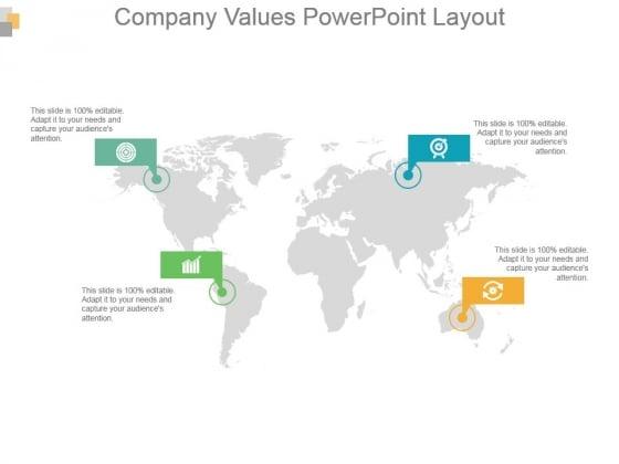 Company Values Powerpoint Layout