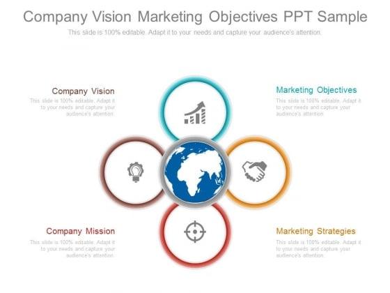 Company Vision Marketing Objectives Ppt Sample