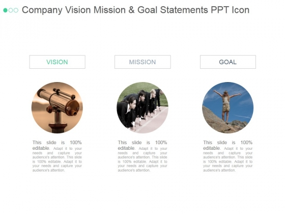 company vision mission and goal statements ppt powerpoint