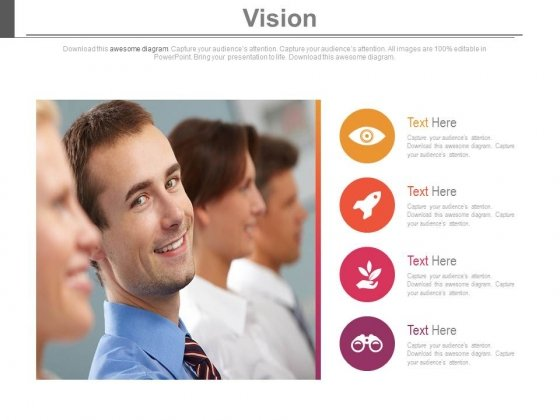 Company Vision Mission And Profile Powerpoint Slides