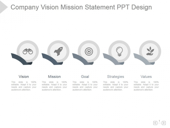 Company Vision Mission Statement Ppt PowerPoint Presentation Influencers