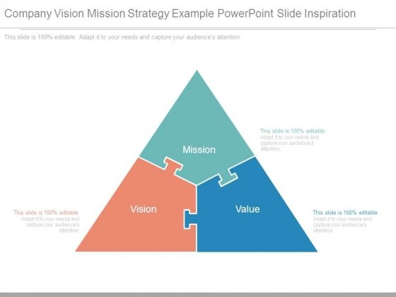 Company Vision Mission Strategy Example Powerpoint Slide Inspiration
