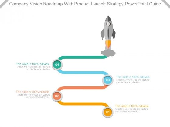 Company Vision Roadmap With Product Launch Strategy Powerpoint Guide